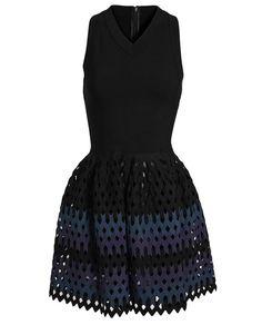 AZZEDINE ALAÏA | Diamond Cut-Out Stretch-Knit Dress