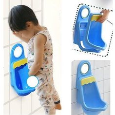 Potty Training Urinal for Boys Pee Blue Toddler Chair Portable Trainer Child Fun