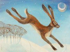 Carolyn Pavey - Midnight Hare ORIGINAL SOLD