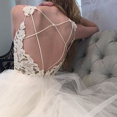 Well, Well, Well...Look at those gorgeous back details and designs  #blushbyhayleypaige #halogown #nfhouston #bridal #trunkshow #weddingdress #nofilter #instalove #justgirlythings