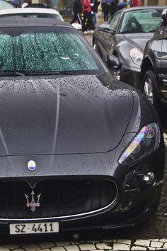 Maserati wet or dry it still is my kind of car. Lamborghini, Ferrari, Bugatti, Maserati Gt, Sexy Cars, Hot Cars, My Dream Car, Dream Cars, Audi
