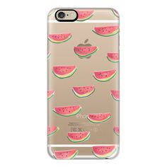iPhone 6 Plus/6/5/5s/5c Case - Watercolor Watermelon Clear ($40) ❤ liked on Polyvore featuring accessories, tech accessories, electronics, phones, tech, iphone case, apple iphone cases, iphone cases, iphone cover case and clear iphone cases