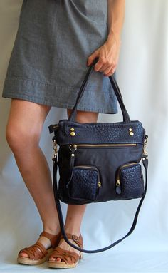 TODAY ONLY - Sale - Willow leather bag in navy on Etsy, $255.00