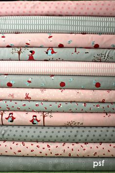 Rose Petals and clouds custom Fat Quarter by poppyseedfabrics