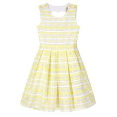 Yumi Girl Yellow Organza Stripe Heart Cut Out Dress- Heart Cut Out, Debenhams, Hairspray, Summer Dresses, Yellow, Fashion, Moda, Summer Sundresses, Fashion Styles