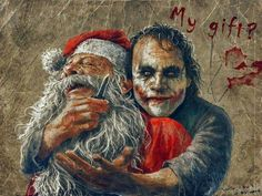 The Joker meets Santa.