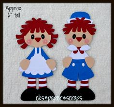 Raggedy Ann & Andy Kids Scrapbook Paper Piecing Set