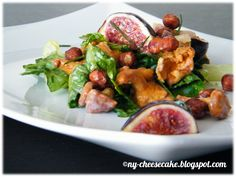 ...like a piece of New York Cheesecake...: Herbstsalat: Pfifferlinge + Haselnüsse + Feigen