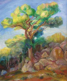 Zdzislaw Cyankiewicz Cyan (1912-1981) - L'arbre Jaune Huile