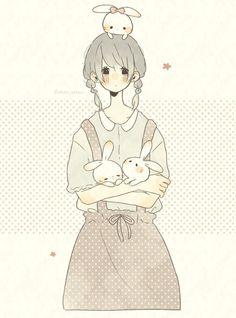 Kawaii Drawings, Cartoon Drawings, Kawaii Art, Kawaii Anime, Fanarts Anime, Manga Anime, Anime Style, Simple Anime, Chibi Girl
