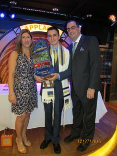 A family from New York, along with many friends, celebrated their son Dean's Bar Mitzvah on the beautiful Royal Caribbean's Oasis of the Seas. Very Excited, Royal Caribbean, Cruise Vacation, Bar Mitzvah, Oasis, How To Memorize Things, Seasons, Celebrities, Dean