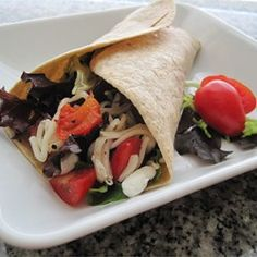 """Baby Greens and Goat Cheese Wrap 