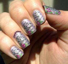 Love Letter Nails via #flightofwhimsy #valentines #vdaypolish - Bellashoot.com
