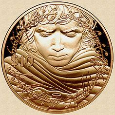 New Zealand 2003 Gold Frodo and the One Ring Coin, stunning!