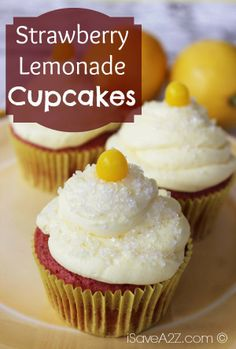 Strawberry Lemonade Cupcakes Recipe This are THE BEST!!!
