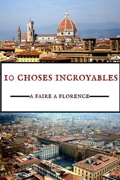 Dans mon dernier article je vous livre une sélection de 10 choses incroyables à faire à Florence. Entre musées, art et histoire, vivez une expérience hors du temps dans cette ville incroyable! #voyage #travel #voyager #Italie