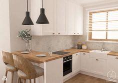 Kitchen Room Design, Modern Kitchen Design, Home Decor Kitchen, Home Decor Bedroom, Home Kitchens, Contemporary Kitchen Cabinets, Home Entrance Decor, Wood Countertops, Cuisines Design