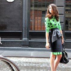 Love a skirt over dress look and this peplum adds extra interest.