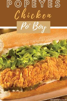 Let the Popeyes Chicken Po Boy live on in your home with our copycat recipe. You no longer have to order something else at Popeyes with this recipe. Poboy Sandwich Recipe, Chicken Sandwich Recipes, Fried Chicken Sandwich, Fried Chicken Recipes, Chicken Po Boy Recipe, Popeyes Spicy Chicken Recipe, Chicken Subs, Restaurant Recipes, Dinner Recipes