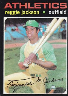 Reggie Jackson One of the greats with the worst personality of any athlete I know. Mr October, Reggie Jackson, Brandon Jackson, Just A Game, Sports Figures, Autographed Baseballs, Oakland Athletics, Mlb, Baseball Cards