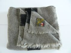 Trapper Point Wool Blanket Made in England by Saltofmotherearth