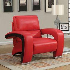Furniture Of America Wezen Sofa Chair CM6412RD-CH