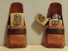 Custom wet-formed leather Zippo case by Trevor Moody of Dirigo Craft & Supply Co.