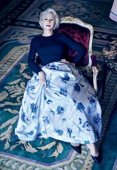 """Helen Mirren, from """"8 Silver-Haired Icons We Want to See in Fashion's Next Big Campaign"""""""