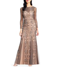 f0da5a2b34d0 Shop for Adrianna Papell Sheer Beaded Gown at Dillards.com. Visit Dillards. com