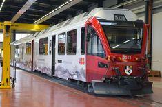 ABB-Allegra 3512 der RhB mit neuen Werbefolien Swiss Railways, Commercial Vehicle, Coaches, Diesel, Automobile, Fancy, Modern, Gera, Europe