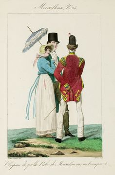 Incroyables et Merveilleuses de 1814 Epic shade-throwing from the guy in the tophat…