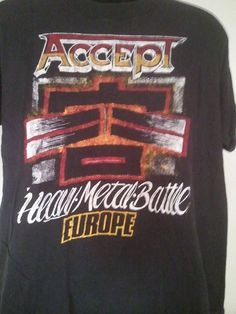 Rare 1986 ACCEPT Heavy Metal Battle  European by LastingRemains, $85.00