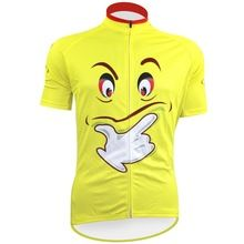 Smiley face Cycling Jersey Summer Yellow Team Bicycle Clothing Cycle Wear  Shirt Ropa Ciclismo MTB Bike Jerseys 30e1e40d3