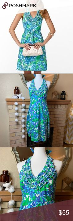 595f20671cb Lilly Pulitzer Bee In Your Bonnet Halter Dress This gorgeous play on a bee  print it