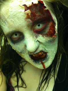 Zombie makeup by Kimberly Sorensen