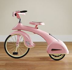 on the go with a pink trike