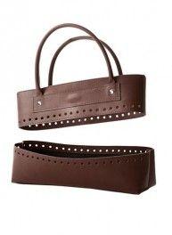 Formes pour sac en simili cuir marron, Bergère de France