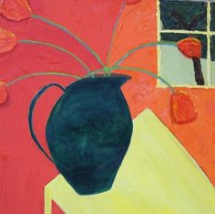 In Private Collection: Some Vased Flowers   17: Fauvist Modern Milton Avery primitive naive art abstracted landscapes stilllifes Jill Finsen Paintings