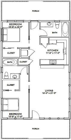 2 Bedroom Floor Plans, Duplex Floor Plans, Small House Floor Plans, Barndominium Floor Plans, Cabin House Plans, Apartment Floor Plans, Tiny Cottage Floor Plans, Bungalow Floor Plans, Garage Plans