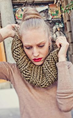 Kit tricot olive ! <3 Empire Snood