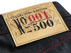 Evisu 2013 Gold Edition - Year of the Snake Boxed Denim Jeans