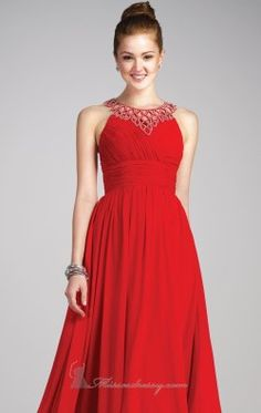 Keyhole Open Back Gown by Colors Dress 0732