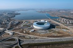 Baku National Stadium designed by Heerim Architects & Planners World Cup 2022, National Stadium, Airplane View, Planners, Architects, England, Canada, Projects, Image