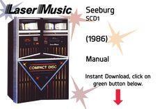 Seeburg SCD1 (1986) Manual  Jukebox Manual available $15 Download at jukeboxmanuals.com
