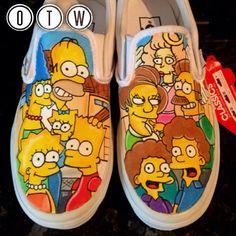 Simpsons Flanders Custom Vans by VeryBadThing