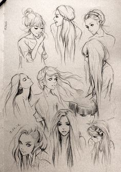 How to draw different styles of hair