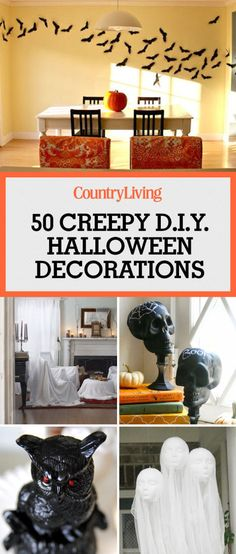 1087 best halloween crafts decorations images on pinterest 46 quick and easy diy halloween decorations solutioingenieria Gallery