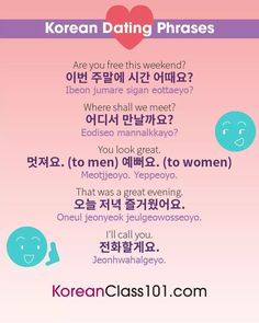 dating in korean phrases and common