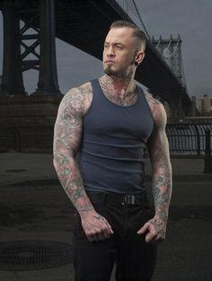 Tattooed Guy Hard Romping