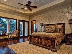 Horseshoe Bay Mediterranean Lakeside Home - mediterranean - Bedroom - Austin - Zbranek & Holt Custom Homes